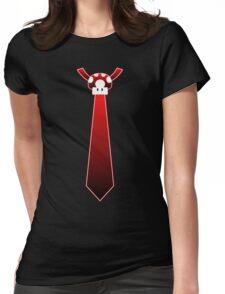 Red Mario Mushroom Tie Womens Fitted T-Shirt