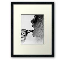 Lipstick & Fingertips Framed Print