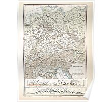 Atlas zu Alex V Humbolt's Cosmos 1851 0162 Mountains of Germany and Switzerland Poster