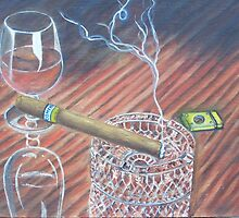 Cohiba and Wine by artrme