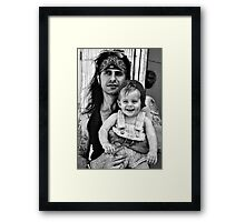 Tattoo's & Innocence Framed Print