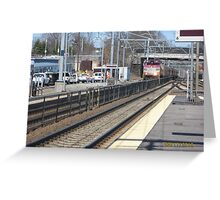 MBTA Commuter Rail outbound to Providence Greeting Card