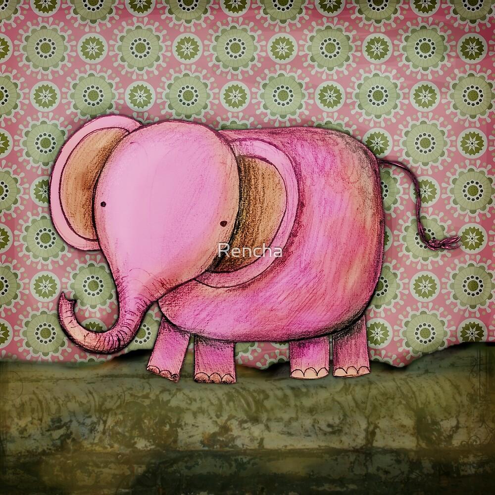 Elephant Joe card by Rencha