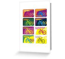 brakeless59 bicycle club Greeting Card
