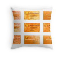 corporate manager visiting card Throw Pillow