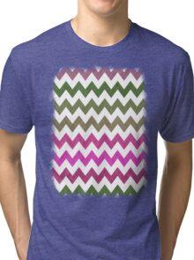 Pink Roses in Anzures 2 Chevron 1T Tri-blend T-Shirt