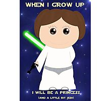 When I grow up, I will be a princess (and a little bit Jedi) Photographic Print