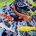 Koi Pond by Rhonda  Anderson