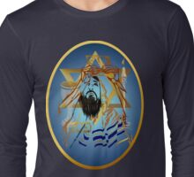 Pass Over Collage Blue Oval Long Sleeve T-Shirt