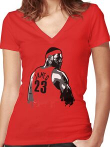 King James (Color Modifiable)  Women's Fitted V-Neck T-Shirt