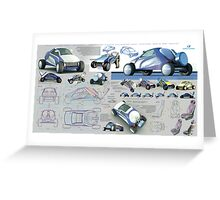 concept of satellite-dish VSAT offroad vehicle Greeting Card