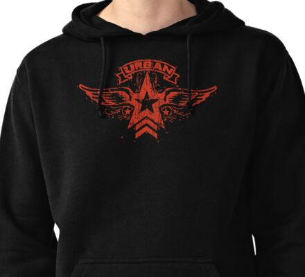 Urban Star and Wings Pullover Hoodie