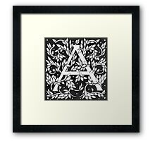 "Art Nouveau ""A"" (William Morris Inspired) Sold Framed Print"