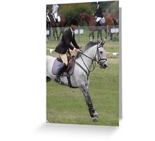 Moss Vale District Showjumping 8 Greeting Card
