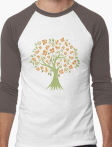 Butterfly Tree Men's Baseball ¾ T-Shirt