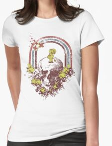 Skull With Kid Design T-Shirt Womens Fitted T-Shirt