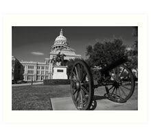 The Tall Texas Capitol  Art Print