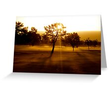 Middle of the Fairway Greeting Card