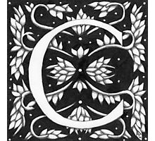"Art Nouveau ""C"" (W Morris Inspired) (Ebay Listed) Photographic Print"