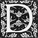 """Art Nouveau """"D"""" (W Morris inspired) Ebay listed by Donna Huntriss"""
