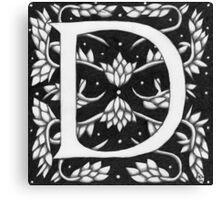 "Art Nouveau ""D"" (W Morris inspired) Ebay listed Canvas Print"