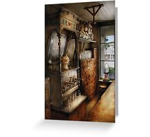 Americana - Turn of the century soda fountain Greeting Card