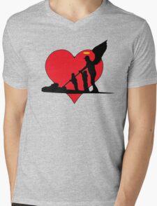 Guardian Angel Mens V-Neck T-Shirt