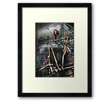 Steampunk - The Steam Engine Framed Print