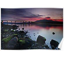 Sunset over Hobart Poster