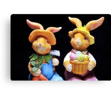 Mr. and Mrs. Bunnie Canvas Print