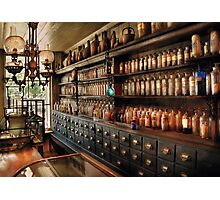 Pharmacy - So many drawers and bottles Photographic Print
