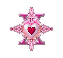Star Cross Flaming Hearts & Pearls by xzendor7
