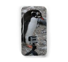 Gentoo Penguin in Antarctica & Go Pro  - 2 Samsung Galaxy Case/Skin