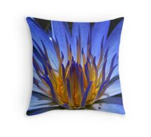 WATER LILY IN BLUE Throw Pillow