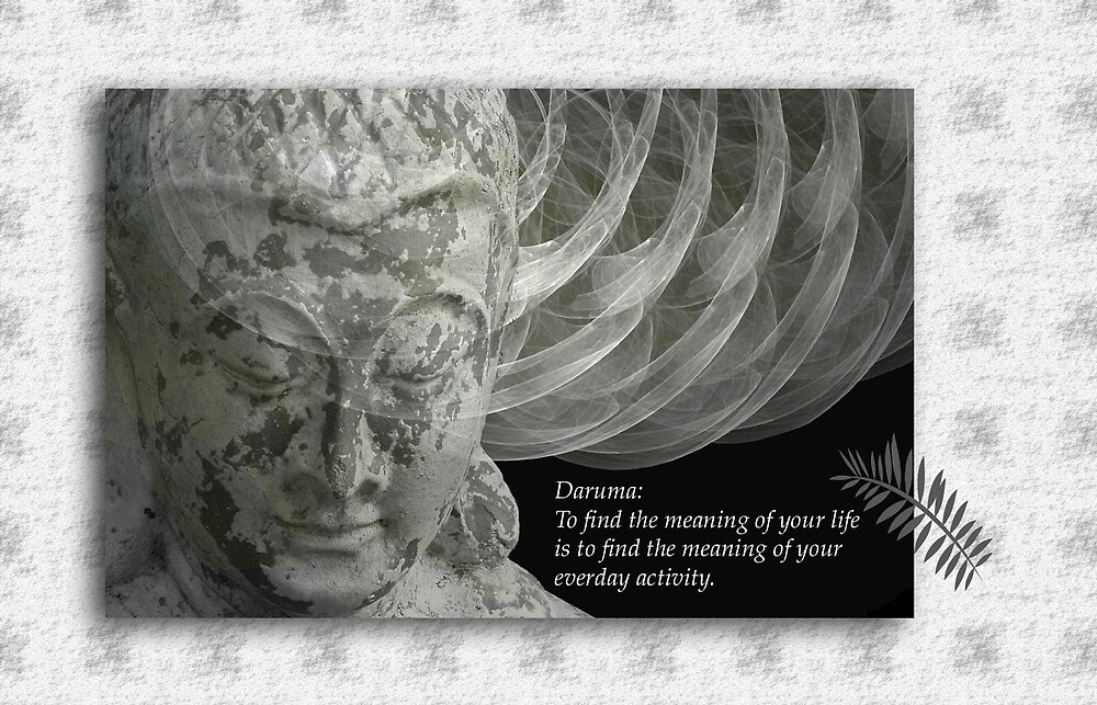 Buddha card with quote by walstraasart