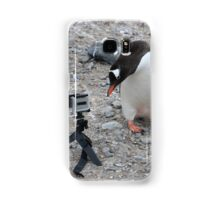 Gentoo Penguin in Antarctica & Go Pro - 3 Samsung Galaxy Case/Skin