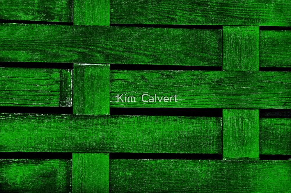 Green Fence by Kim  Calvert
