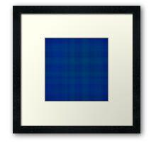 Deep Blue Plaid Framed Print