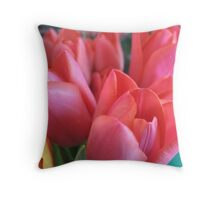 Please stand in the Tulip queue Throw Pillow