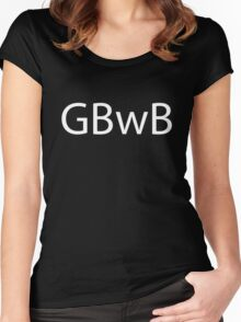 GBwB Logo in White Women's Fitted Scoop T-Shirt