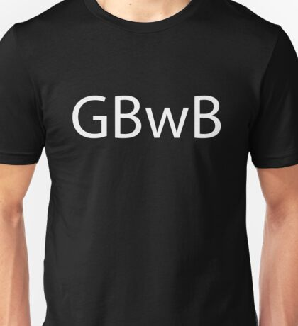 GBwB Logo in White Unisex T-Shirt