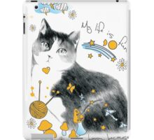 cat design t-shirt iPad Case/Skin