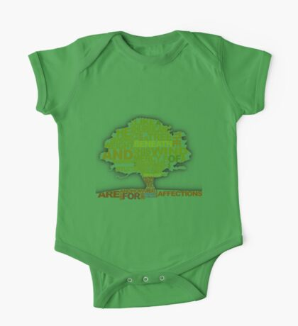 How He Loves Tree Design One Piece - Short Sleeve