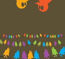 Birds, chatting and chatting and chatting and chatting and chatting and chatting by Richard Laschon