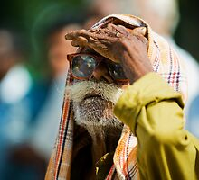 Trying to get the best view, At a local Rally for C.K. Babu, Arul Puram, India by connieelaine