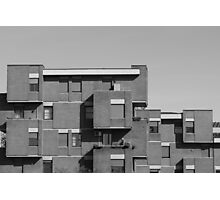 geometric architecture with blocks  Photographic Print