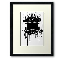 Fun with Music Design T-shirt Framed Print