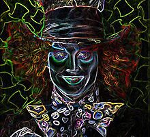 Neon Mad Hatter. by Gary Goza II
