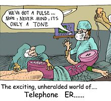 Telephone E.R. (Coming to TV) A Londons Times Cartoons by Rick  London