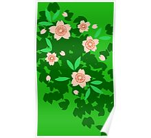 Cherry Blossom - Forest Green Poster